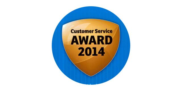 Customer service award 2014 won by Parrock dental & Implant Centres