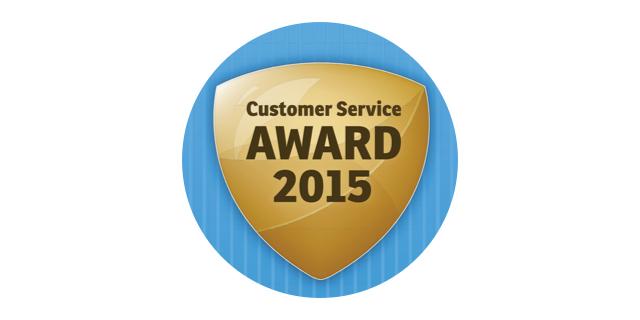 Customer service award 2015 won by Parrock dental & Implant Centres